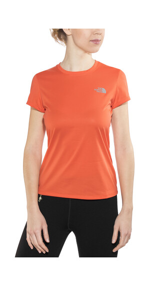 The North Face Reaxion Amp Crew Hardloopshirt korte mouwen Dames oranje